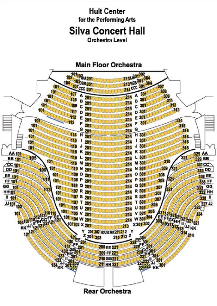 Hult Center Seating Chart 360 Degree Views Hult Center